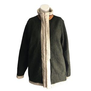 Woolrich green felted coat